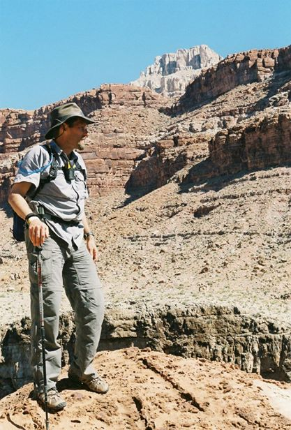 Dr. Dirt on the rim of the Grand Canyon